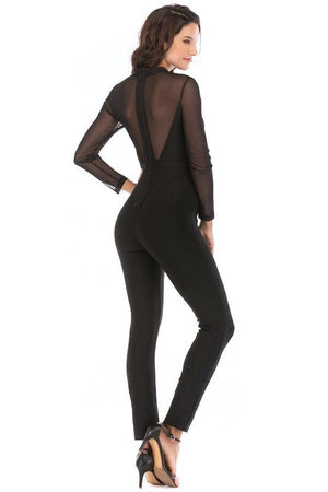 mesh bodycon women jumpsuits dresses by verkadi