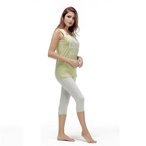 Soft Cotton O-Neck Sleeveless Sleepwear Pajama Set Verkadi.com