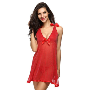 Hot Baby Doll Sequin Nightwear With G-String Lingerie Set Verkadi.com