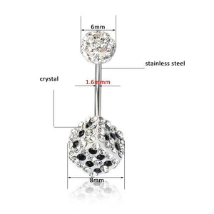 Crystal Rhinestone Dice Navel Piercing Belly Button Ring Verkadi.com