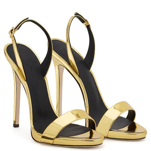 Stiletto High Heel Open Toe Platform Sandal