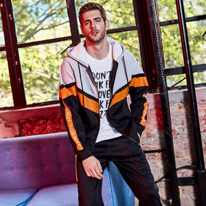 Hip Tracksuit Fleece Jackets With Pants Men's Hoodie Sweatshirt Verkadi.com