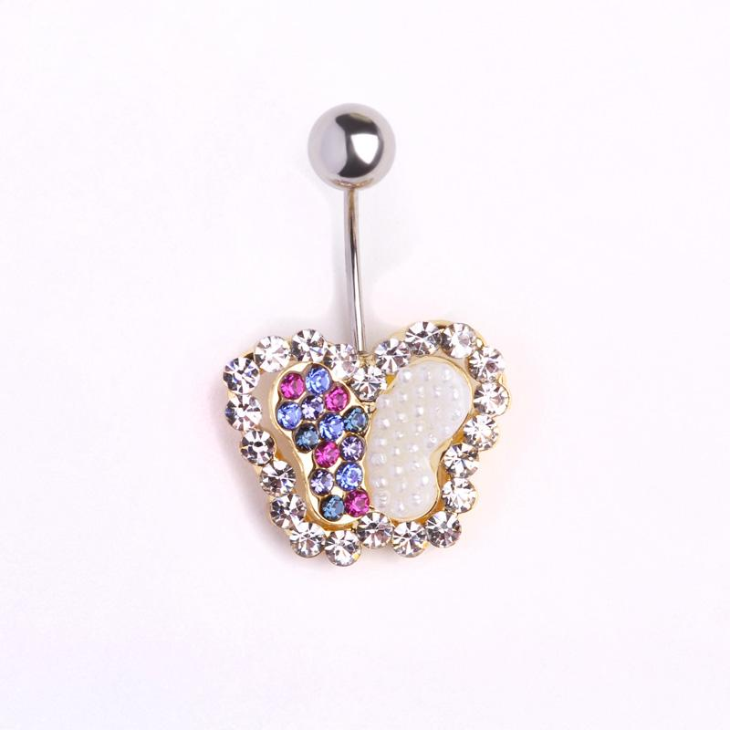Crystal Butterfly Navel Piercings Belly Button Ring