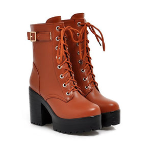 Stylish Comfortable Platform High Heel Ankle Boots Verkadi.com