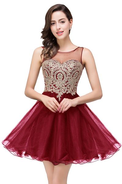 Pink and Gold Prom Dress