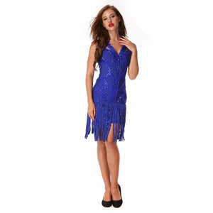 Hot Sleeveless Crystal Tassel Bodycon Evening Club Party Dress Verkadi.com