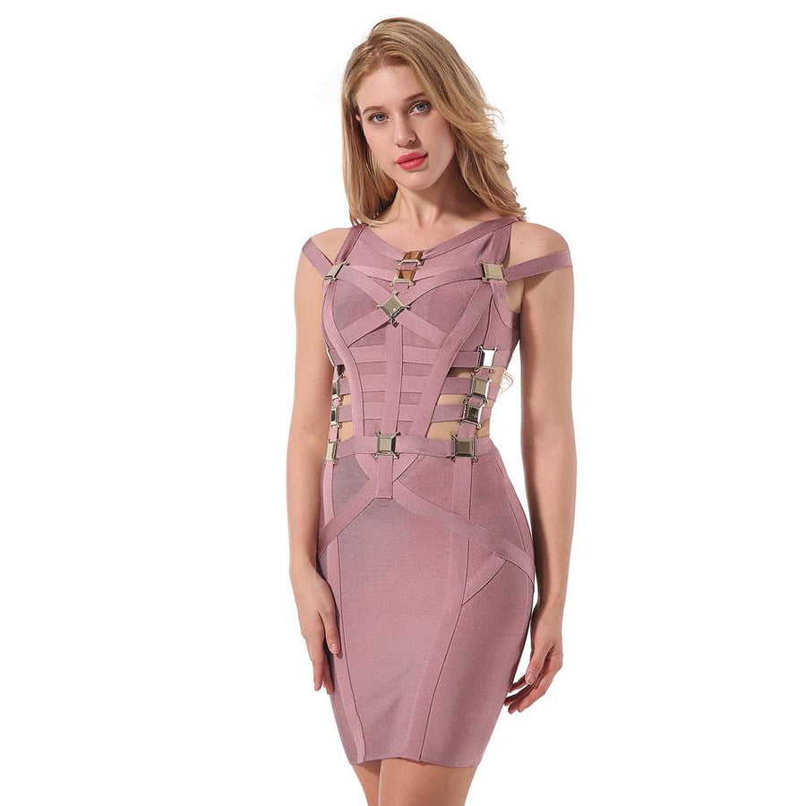 Hot Elegant Hollow Out Bodycon Evening Party Dress Verkadi.com
