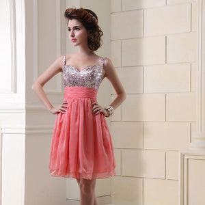 Silver Sequin Bodice Chiffon Prom Party Dress Verkadi.com