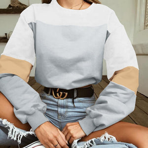 Hot Chic Long Sleeve Loose Crop Top Sweatshirt Hoodie Verkadi.com