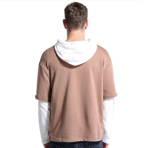 Fashion Hip Causal Patchwork Street Wear Hoodie Sweatshirt Verkadi.com