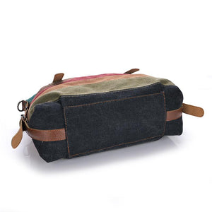 Fashion Canvas Hand/Shoulder Patchwork Casual  Women's Bag