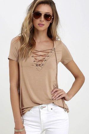 Trendy Loose Short Sleeve Tops T-Shirts Verkadi.com