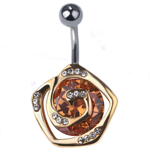 Style Flower Navel Piercing Belly Button Ring