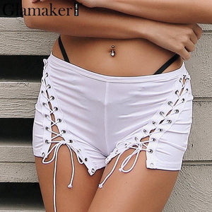 Sexy Front Lace Up Hollow Out High Waist Shorts