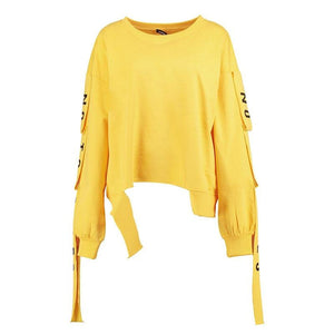 Hip Hop Style Lace Up Split Hoodie Sweatshirt Verkadi.com