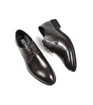 Flat Genuine Leather Oxford Business Dress Shoes