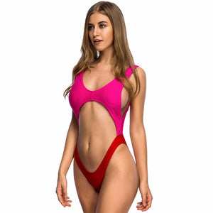 New Cut Out One Piece Backless Swimsuit Bikini Verkadi.com