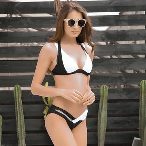Sexy High Waist Push Up Retro Top Swimwear Bikini Set verkadi.com