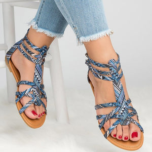 Folk-Custom Casual Summer Roman Gladiator Flat Sandals