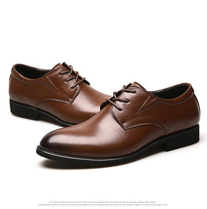 Men Business  Lace-up Genuine Leather Shoes
