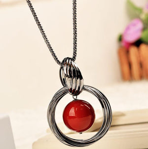 Sweet Red All-Match Pendant Necklace
