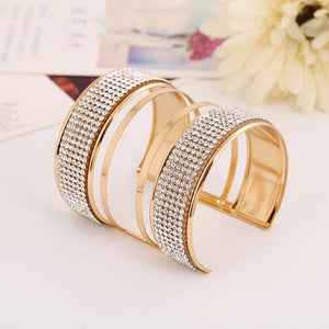 Hip Double Band Crystal Open Size Bracelet Verkadi.com
