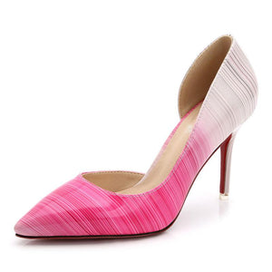 Elegant High Heel Pumps Shallow Pointed Toe Shoes