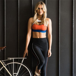 Sexy Hip Patchwork Yoga Fitness Sport Set Verkadi.com