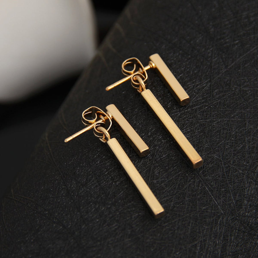 Fashion Simple T Bar Ear Jacket Stud Earrings Verkadi.com