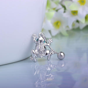 Cool Wild Frogs Belly Button Navel Piercing Ring Verkadi.com