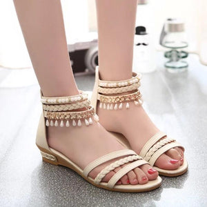 Leisure Peep Toe Wedged Comfortable Women Sandals Verkadi.com