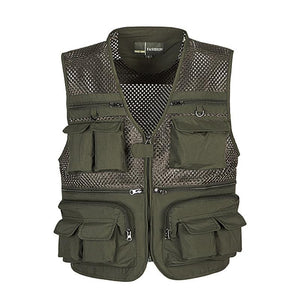 Multi Function Breathable Mesh Vest Jacket Verkadi.com