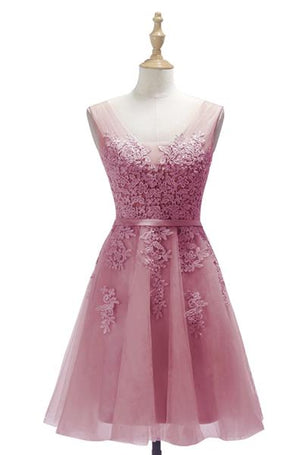 Lace Appliques Short Event Prom Graduation Party Dress
