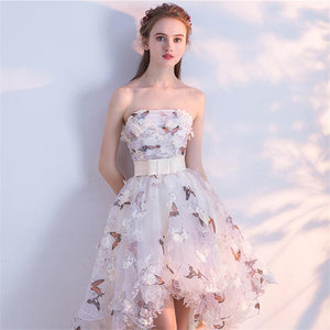 Strapless Pleated Vintage Taffeta Prom Party Dress
