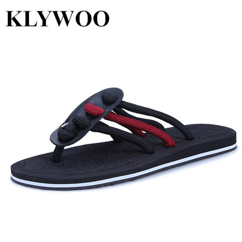 b4119c09e59023 ... Brand Designer Men Open Toe Flip Flop Sandals Slippers Beach Casual  Shoes ...