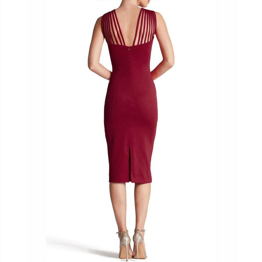 Shoulder String Strapped Evening Sleeveless V-Neck Slim Dress