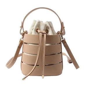 Italian Style Drawstring Bucket Cross Shoulder Handbag