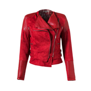 Trendy Zen Zipper Suede Faux Leather Short Women Jacket