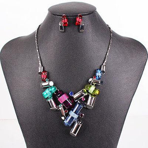 Classic &  High Quality Unique Design Plated Jewelry Set