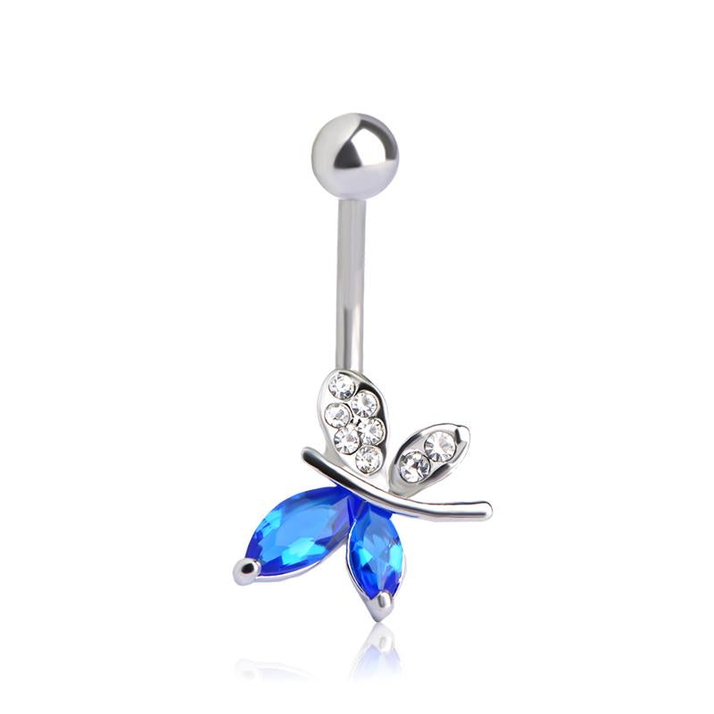 Sexy Butterfly Belly Button Navel Piercing Ring