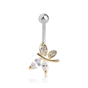 Sexy Butterfly Belly Button Navel Piercing Ring Verkadi.com