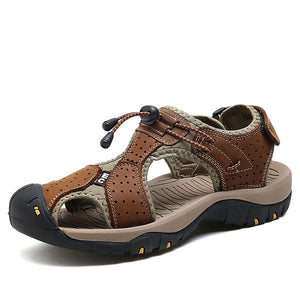 Men Sandals Slippers Casual Suede Leather Gladiator Verkadi.com