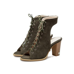 New Gladiator Cross Tied High Heels Back Strap Sandals Shoes Verkadi.com