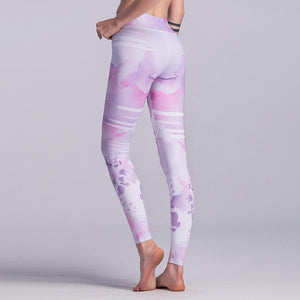 Push Up Fitness Printed Leggings