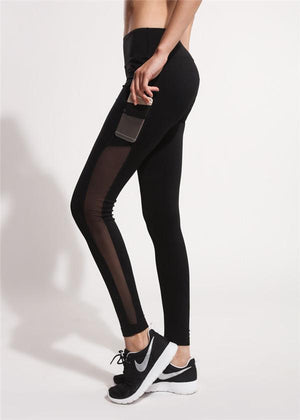 Workout Slim Mesh Black Legging
