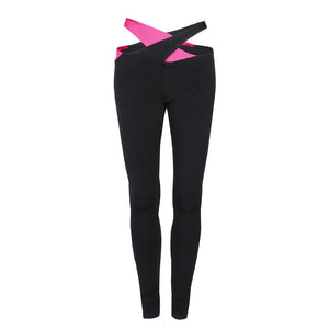 Push Up Cross Waist Black Workout Legging