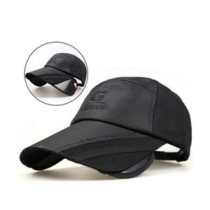 Hip Mesh Sunscreen Brim Retractable Baseball Cap Verkadi.com