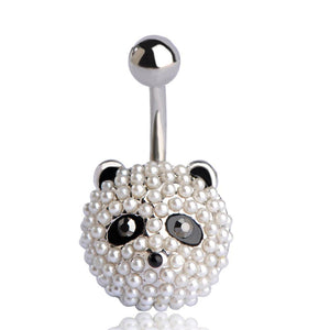 Cute Panda Body Piercings Navel Belly Button Ring