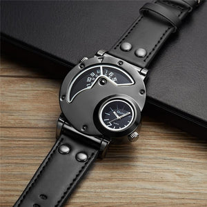 Military Style Dual Time Quartz Watch