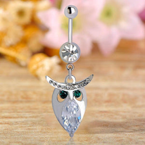 Sexy Owl Pendant Navel Piercing Belly Button Ring Verkadi.com
